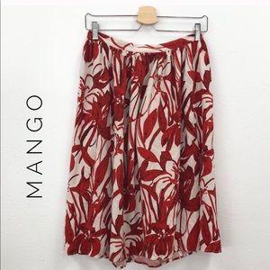 Mango Suit collection floral midi  skirt sz 6